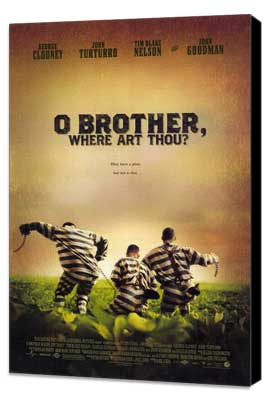 O Brother Where Art Thou? - 27 x 40 Movie Poster - Style A - Museum Wrapped Canvas