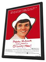 O Lucky Man! - 27 x 40 Movie Poster - Style B - in Deluxe Wood Frame