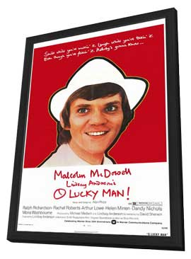 O Lucky Man! - 11 x 17 Movie Poster - Style B - in Deluxe Wood Frame
