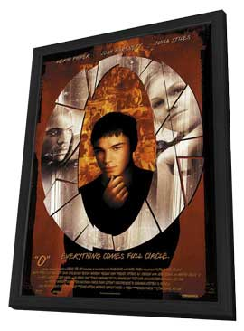 O - 11 x 17 Movie Poster - Style C - in Deluxe Wood Frame