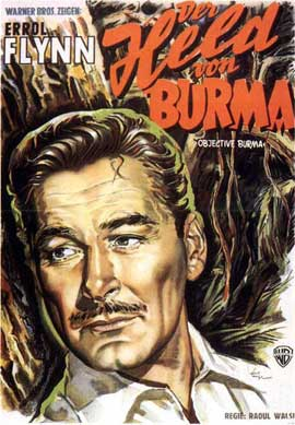 Objective, Burma! - 11 x 17 Movie Poster - German Style A