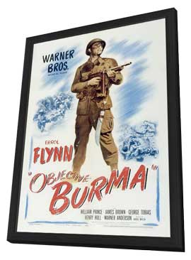 Objective, Burma! - 11 x 17 Movie Poster - Style A - in Deluxe Wood Frame