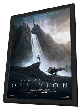 Oblivion - 27 x 40 Movie Poster - Style A - in Deluxe Wood Frame