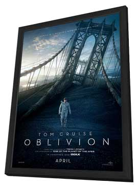 Oblivion - 11 x 17 Movie Poster - Style B - in Deluxe Wood Frame