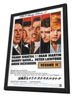 Ocean's 11 - 27 x 40 Movie Poster - Style B - in Deluxe Wood Frame