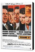 Ocean's 11 - 27 x 40 Movie Poster - Style B - Museum Wrapped Canvas