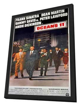 Ocean's 11 - 11 x 17 Movie Poster - Style H - in Deluxe Wood Frame