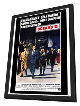 Ocean's 11 - 27 x 40 Movie Poster - Style A - in Deluxe Wood Frame