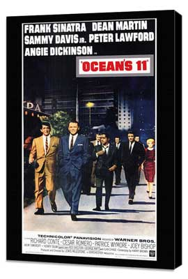 Ocean's 11 - 11 x 17 Movie Poster - Style A - Museum Wrapped Canvas