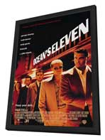 Ocean's Eleven - 11 x 17 Movie Poster - Style A - in Deluxe Wood Frame