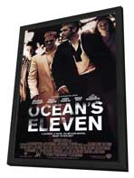 Ocean's Eleven - 11 x 17 Movie Poster - Style D - in Deluxe Wood Frame