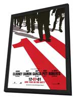 Ocean's Eleven - 27 x 40 Movie Poster - Style B - in Deluxe Wood Frame