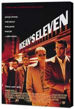 Ocean's Eleven - 11 x 17 Movie Poster - Style A - Museum Wrapped Canvas