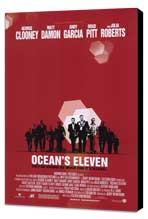 Ocean's Eleven - 11 x 17 Movie Poster - Style B - Museum Wrapped Canvas