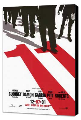 Ocean's Eleven - 11 x 17 Movie Poster - Style C - Museum Wrapped Canvas