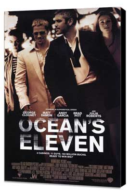 Ocean's Eleven - 11 x 17 Movie Poster - Style D - Museum Wrapped Canvas
