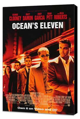 Ocean's Eleven - 27 x 40 Movie Poster - Style C - Museum Wrapped Canvas