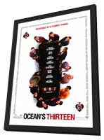 Ocean's Thirteen - 11 x 17 Movie Poster - Style B - in Deluxe Wood Frame