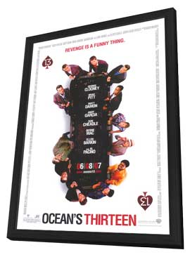 Ocean's Thirteen - 27 x 40 Movie Poster - Style B - in Deluxe Wood Frame