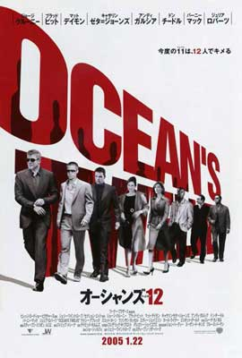 Ocean's Twelve - 27 x 40 Movie Poster - Japanese Style A