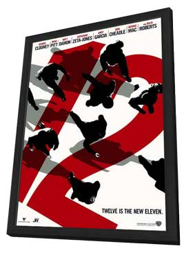 Ocean's Twelve - 11 x 17 Movie Poster - Style C - in Deluxe Wood Frame