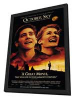 October Sky - 11 x 17 Movie Poster - Style A - in Deluxe Wood Frame