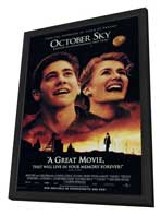 October Sky - 27 x 40 Movie Poster - Style A - in Deluxe Wood Frame
