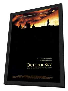 October Sky - 27 x 40 Movie Poster - Style B - in Deluxe Wood Frame