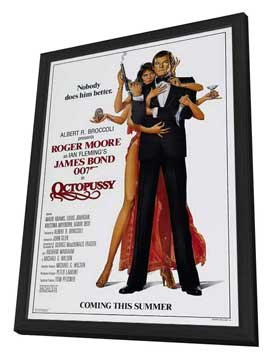Octopussy - 27 x 40 Movie Poster - Style B - in Deluxe Wood Frame