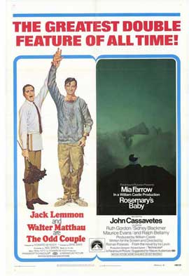 The Odd Couple/Rosemary's Baby - 27 x 40 Movie Poster - Style A