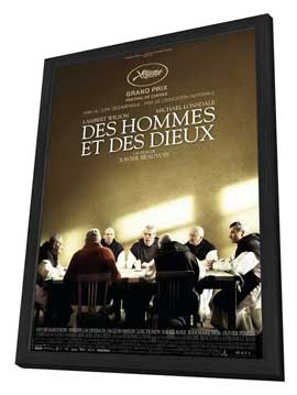 Of Gods and Men - 11 x 17 Movie Poster - French Style A - in Deluxe Wood Frame