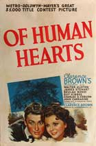 Of Human Hearts - 11 x 17 Movie Poster - Style A