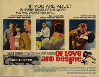 Of Love and Desire - 22 x 28 Movie Poster - Half Sheet Style A