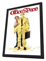 Office Space - 27 x 40 Movie Poster - Style C - in Deluxe Wood Frame