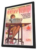Office Tramp - 11 x 17 Retro Book Cover Poster - in Deluxe Wood Frame