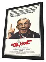 Oh, God! - 11 x 17 Movie Poster - Style B - in Deluxe Wood Frame