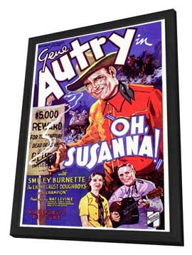 Oh, Susanna! - 27 x 40 Movie Poster - Style A - in Deluxe Wood Frame