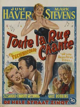 Oh, You Beautiful Doll - 27 x 40 Movie Poster - Belgian Style A