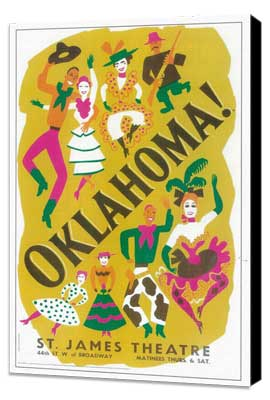 Oklahoma! (Broadway) - 11 x 17 Poster - Style A - Museum Wrapped Canvas