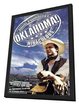 Oklahoma (Broadway) - 27 x 40 Poster - Style A - in Deluxe Wood Frame