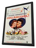 Oklahoma! - 11 x 17 Movie Poster - Style B - in Deluxe Wood Frame