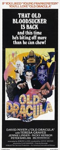 Old Dracula - 14 x 36 Movie Poster - Insert Style A