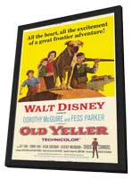 Old Yeller - 11 x 17 Movie Poster - Style A - in Deluxe Wood Frame