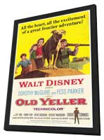 Old Yeller - 27 x 40 Movie Poster - Style A - in Deluxe Wood Frame