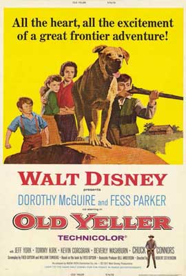 Old Yeller - 27 x 40 Movie Poster - Style A