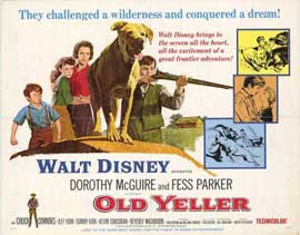Old Yeller - 22 x 28 Movie Poster - Half Sheet Style A
