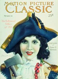 Olive Borden - 27 x 40 Movie Poster - Motion Picture Classic Magazine Cover 1920's Style A