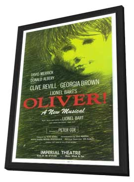 Oliver! (Broadway) - 14 x 22 Poster - Style A - in Deluxe Wood Frame