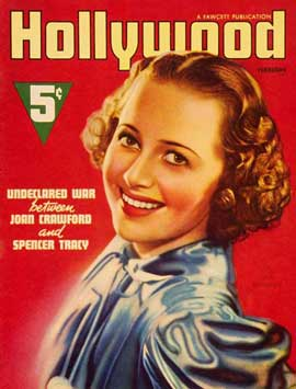 Olivia de Havilland - 11 x 17 Hollywood Magazine Cover 1930's Style A
