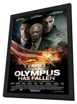 Olympus Has Fallen - 27 x 40 Movie Poster - Style A - in Deluxe Wood Frame